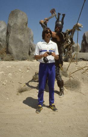 On the set with Ben Davidson, Conan The Barbarian, Spain | Leonard Brady | 1980