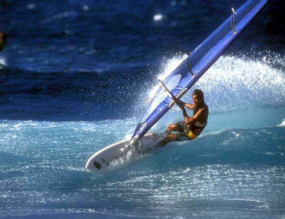 Windsurfing at Hookipa Beach, Maui | Gordinho | 1984
