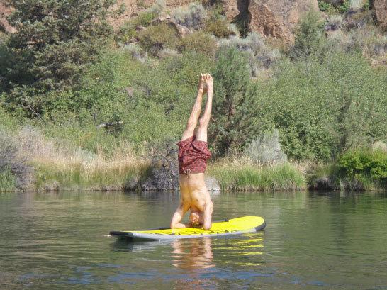 Deschutes River yoga paddle