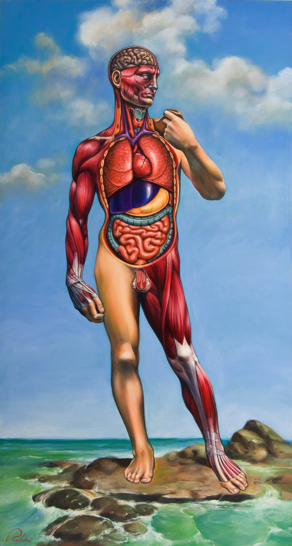 """David"",   48 x 90 inches,   Oil on Canvas"