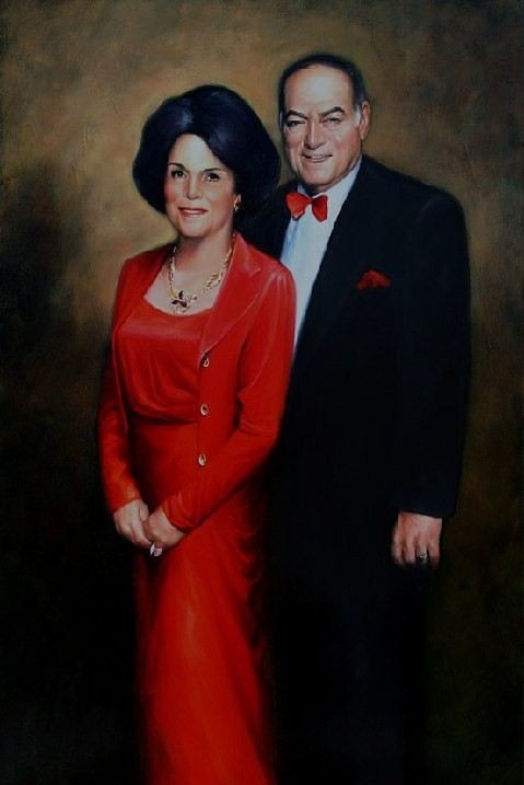 """Mr. and Mrs. Black"", 48 x 60, Oil"
