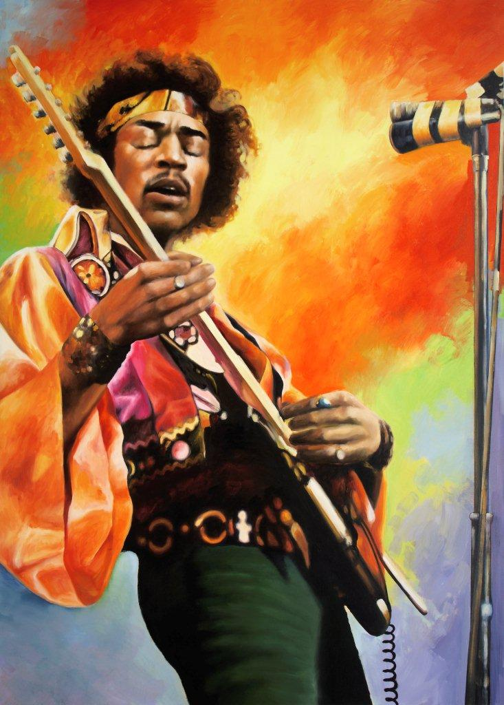 """Hendrix"", Private Collector, 48 x 72, Oil"