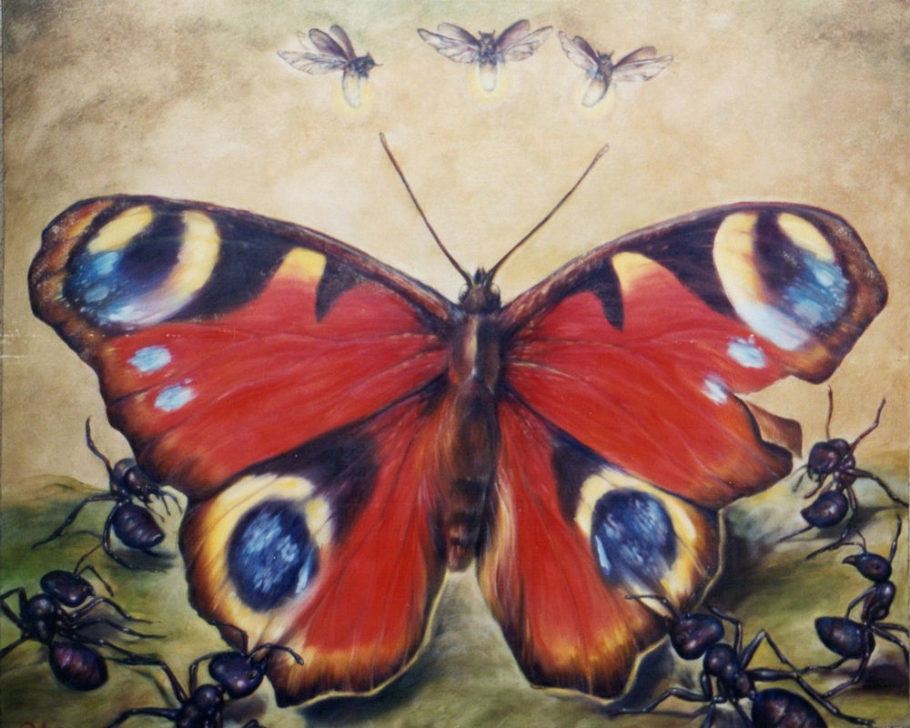 """Butterfly"",   48 x 60 inches,   Oil on Canvas,  SOLD"