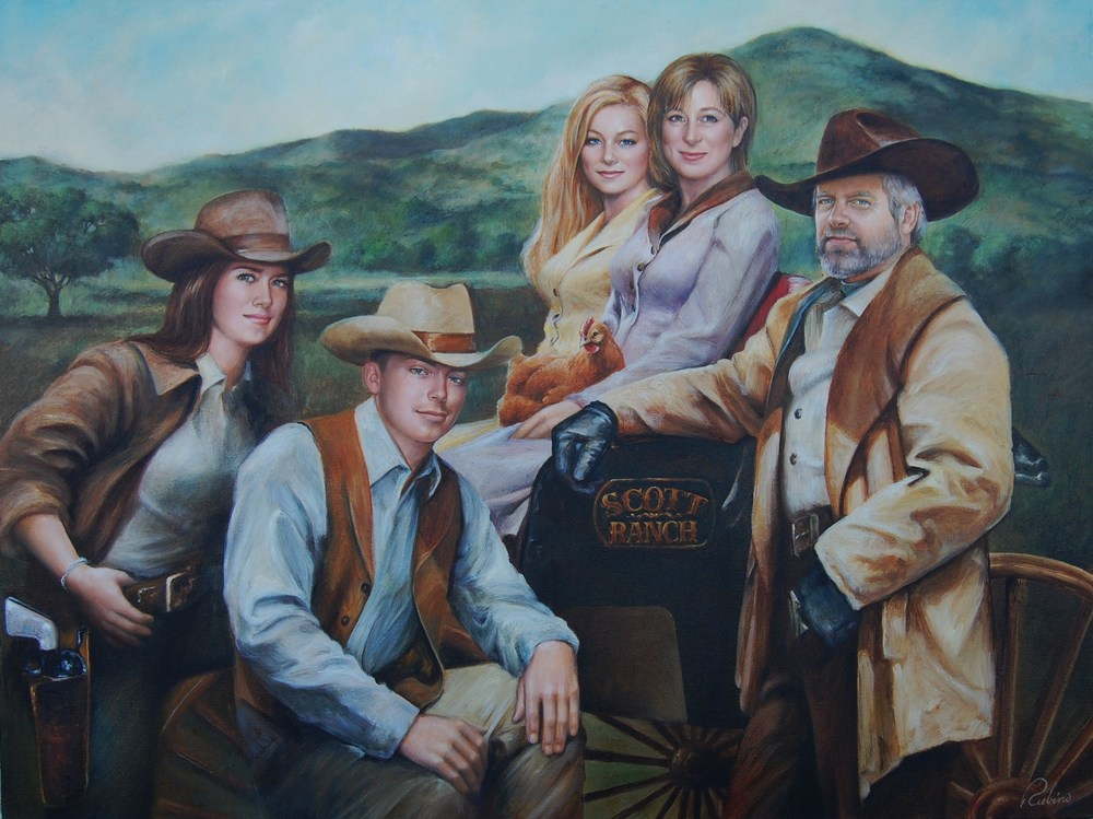 """Family Portrait"", Scott Collection, 36 x 48, Oil"