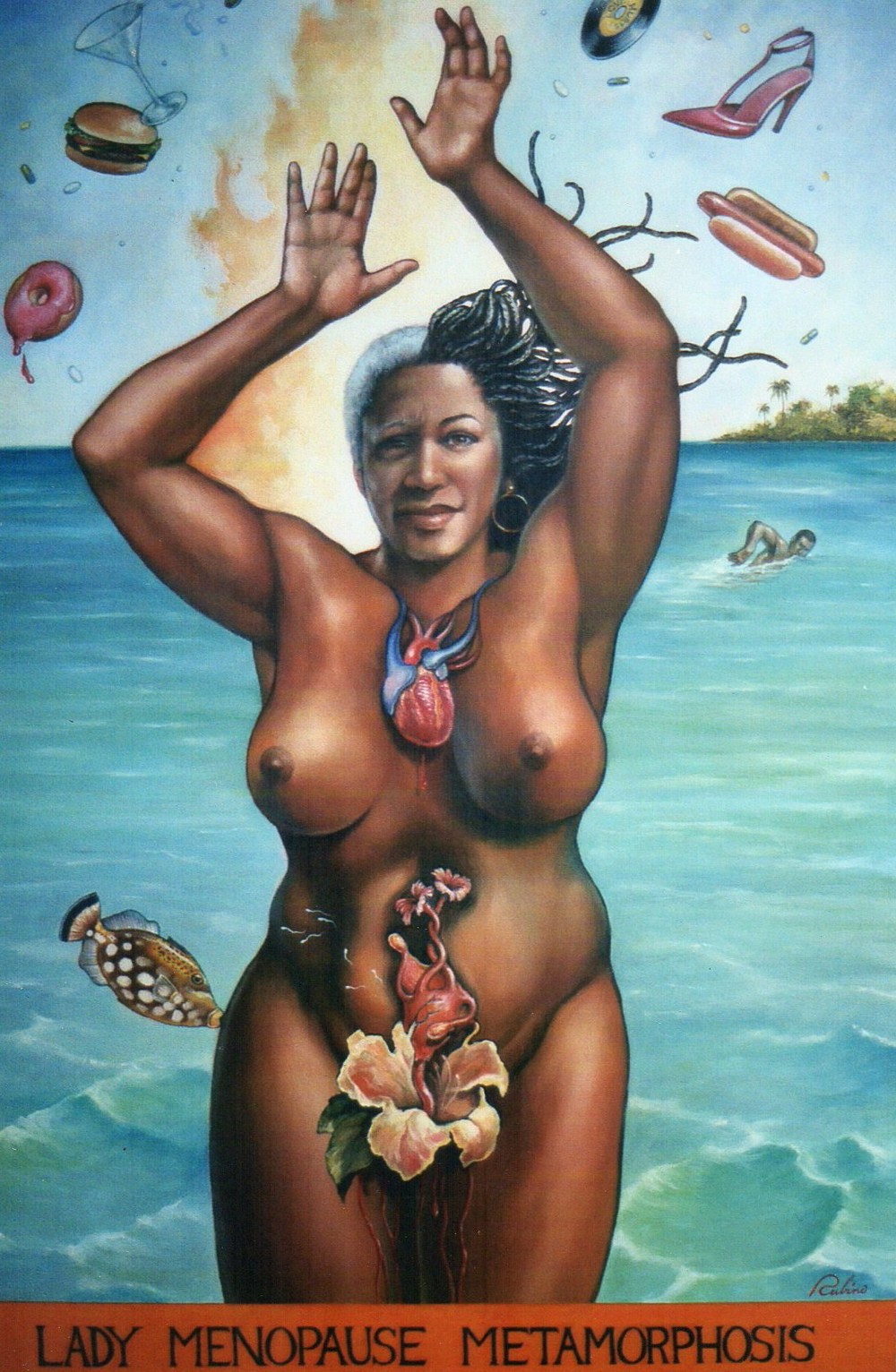 """Lady Menopause"", Private Collector,  24 x 36, Oil"
