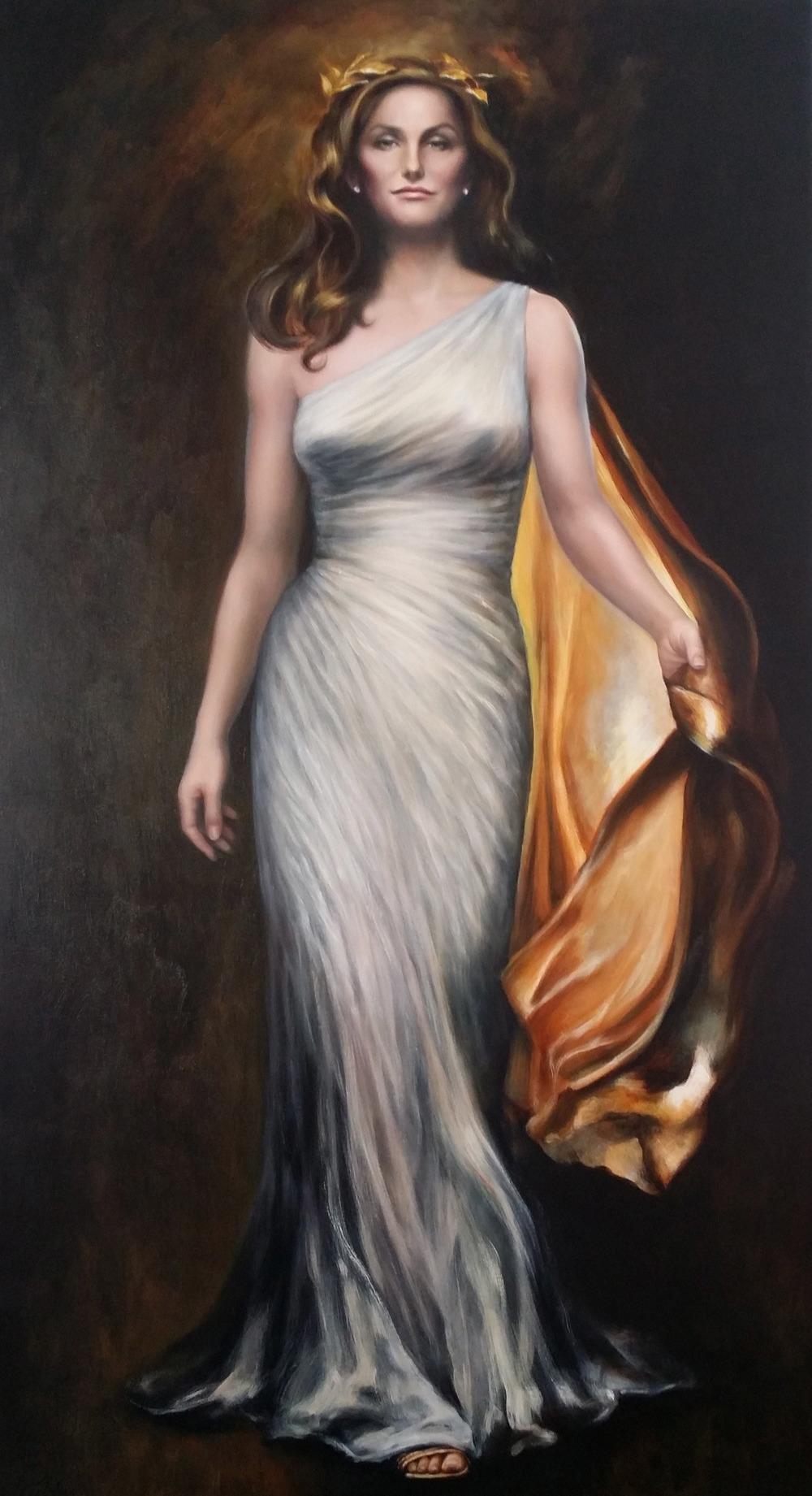 """""""Caitlyn Jenner"""", 46 x 84, oil"""