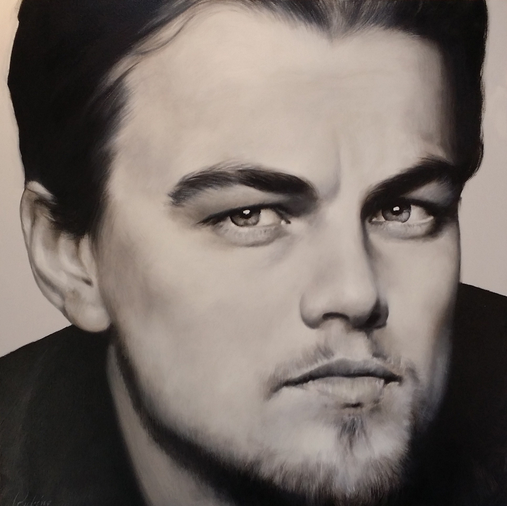 """Leonardo DiCaprio"" for Sandra Costa Designs, 40 x 40,Oil"