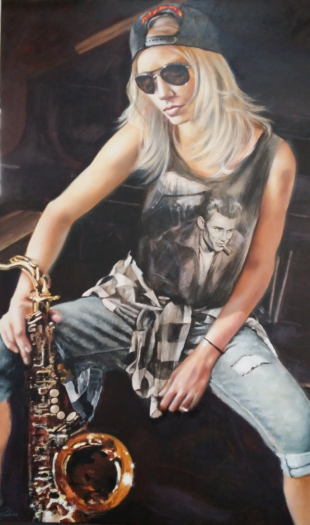 """Hannah"",  Private Collector, 36 x 60, Oil"