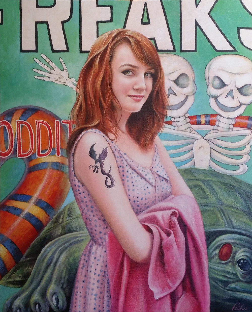 """ISABEL, HENNA TATTOO, VENICE BEACH"", 26 x 32, oil"