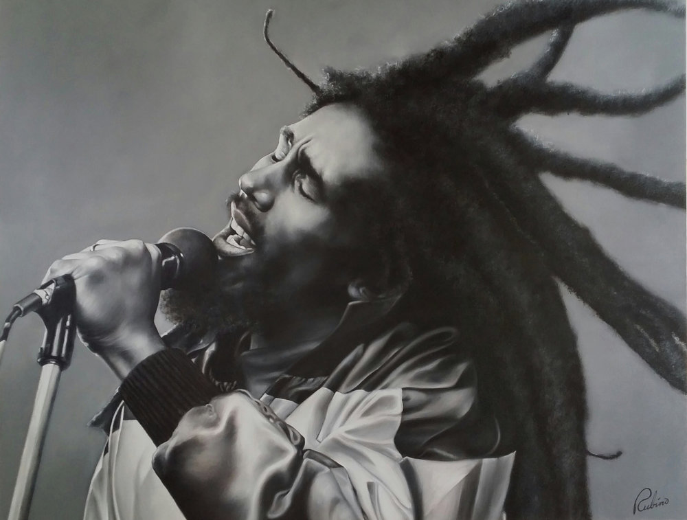"""Bob Marley"", Gary Diaz Collection, 48 x 60, Oil"