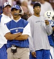 Tony Dungy and his son Jamie