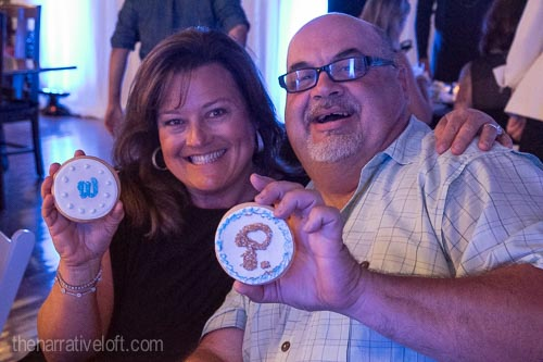 Philippe Berger from Catering Connection and Heidi Whitcomb, owner of Ventura Party Rentals customizing their treats!
