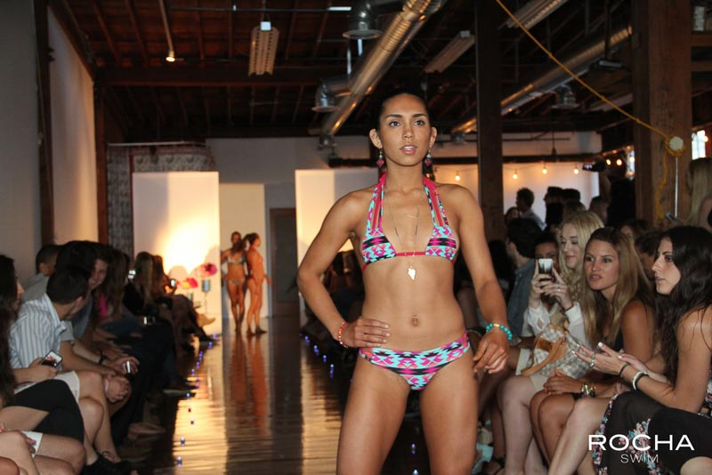 rocha swim model fashion LA california santa barbara bikini runway show