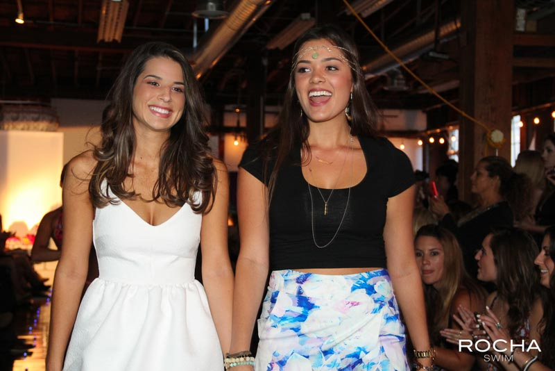 Danielle Rocha and Brianna Daniels walked the runway at the end of the show.