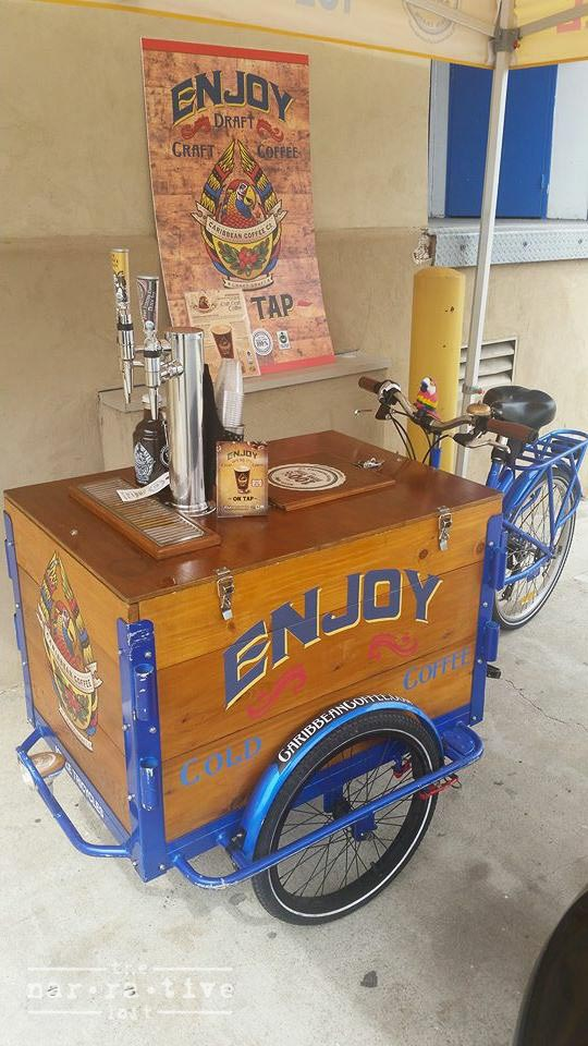 Sponsor Caribbean Coffee Company's little coffee cart!!