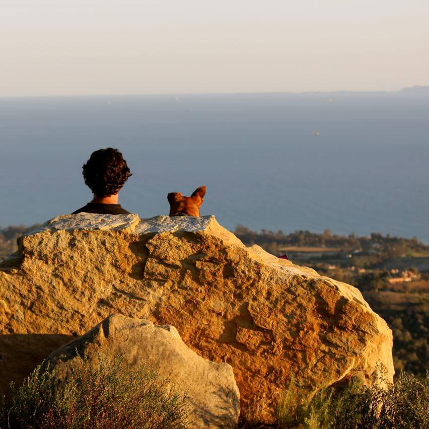Eric and Nala enjoying a true Santa Barbara view!