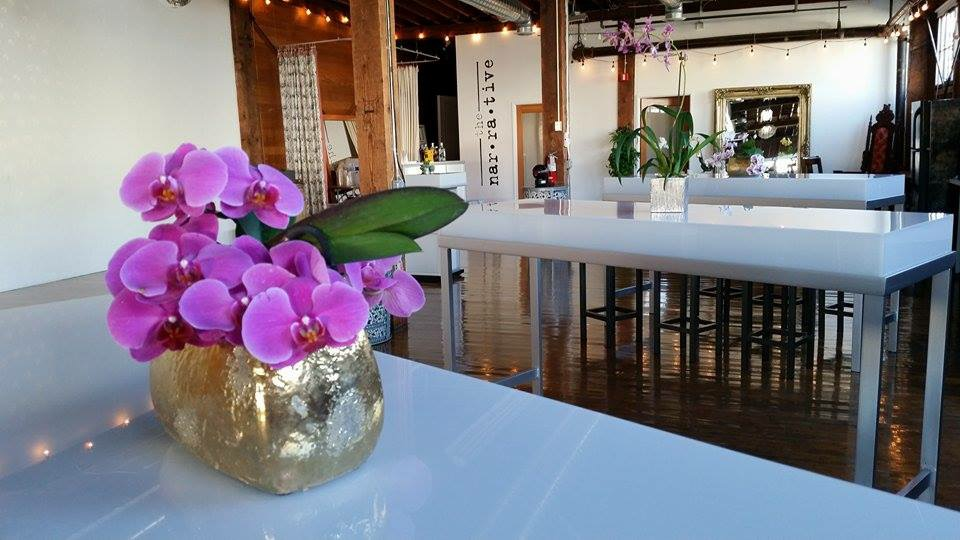 Orchids added the finishing touch to the clean and classic decor.