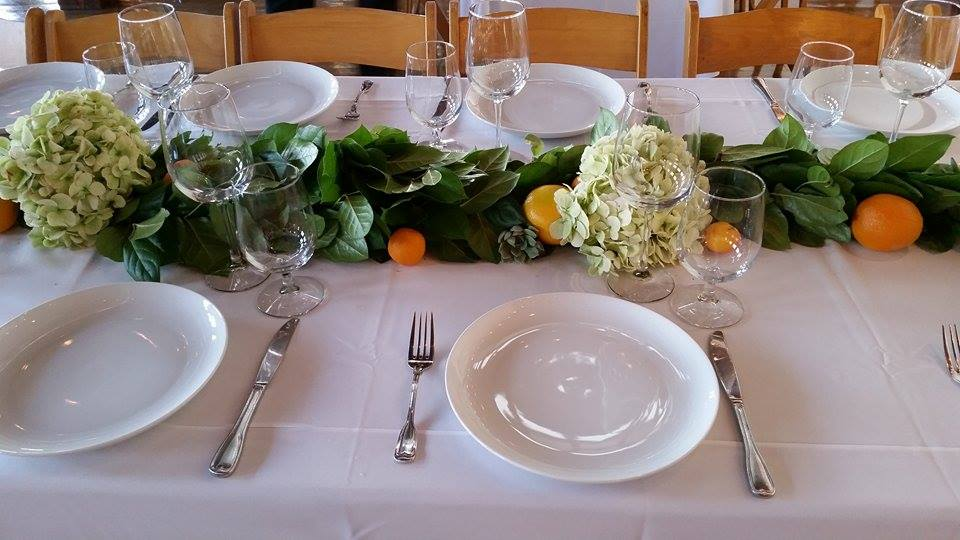 Cute and simple table arrangements.