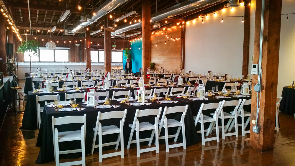 The wedding was full of DIY details that pulled the loft together wonderfully!
