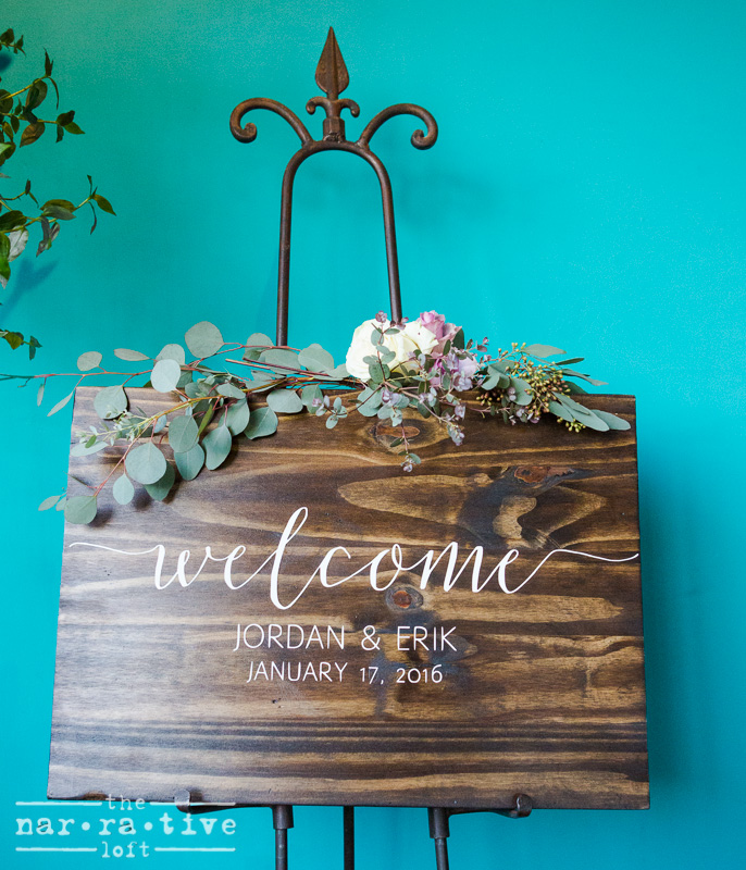Welcome to The Narrative Loft for Jordan & Erik's reception!