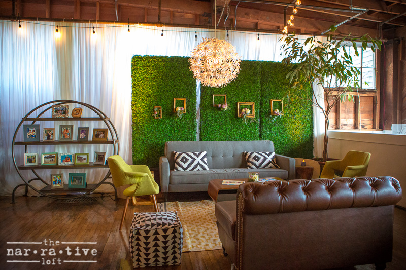 Mid-century modern lounge by Classic Party Rentals.