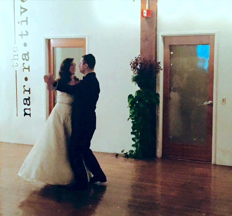 Devin and Katie dancing away.