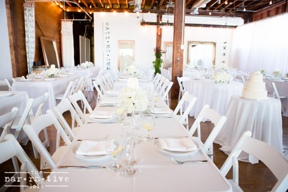 Light and bright wedding design.