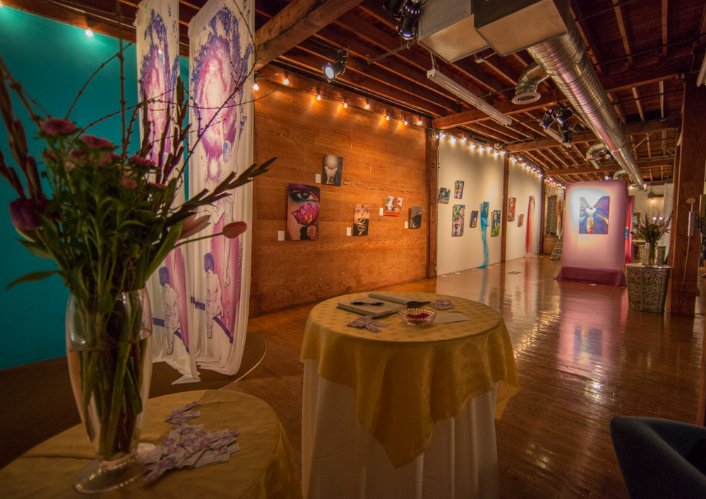The Loft sparks creative energy so when artist Kirsten Gold presented her creations here we couldn't have been more excited. The space transformed into a gallery beautifully!