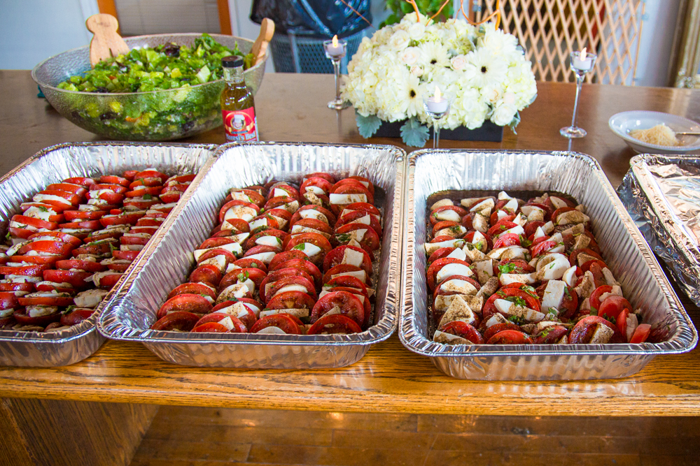 Who needs a caterer when you can have delectable appetizers like these whipped up by family members?