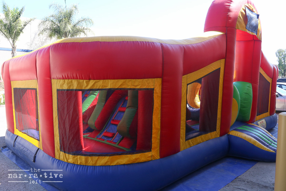 This bouncy jump was definitely not just for the kids.