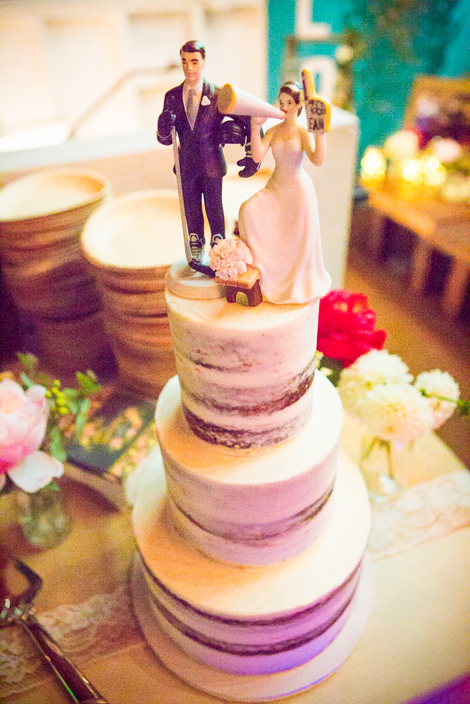 Loved this simple yet sweet naked cake not to mention the adorable custom topper from Enjoy Cupcakes!