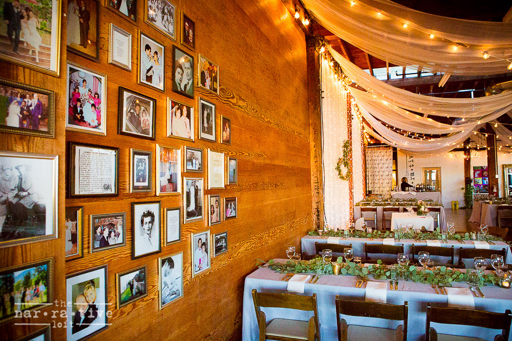 What a sweet idea! A memory wall for guests to get to know the bride and groom on a deeper level.