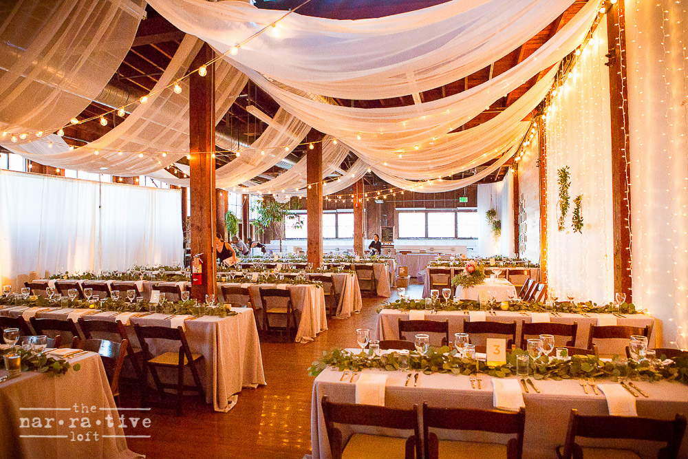 Gauzy gorgeousness and twinkle lights created the perfect atmosphere.