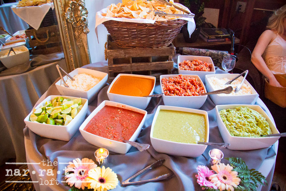 Delicious and vibrant salsa spread from  DJ's California Catering .