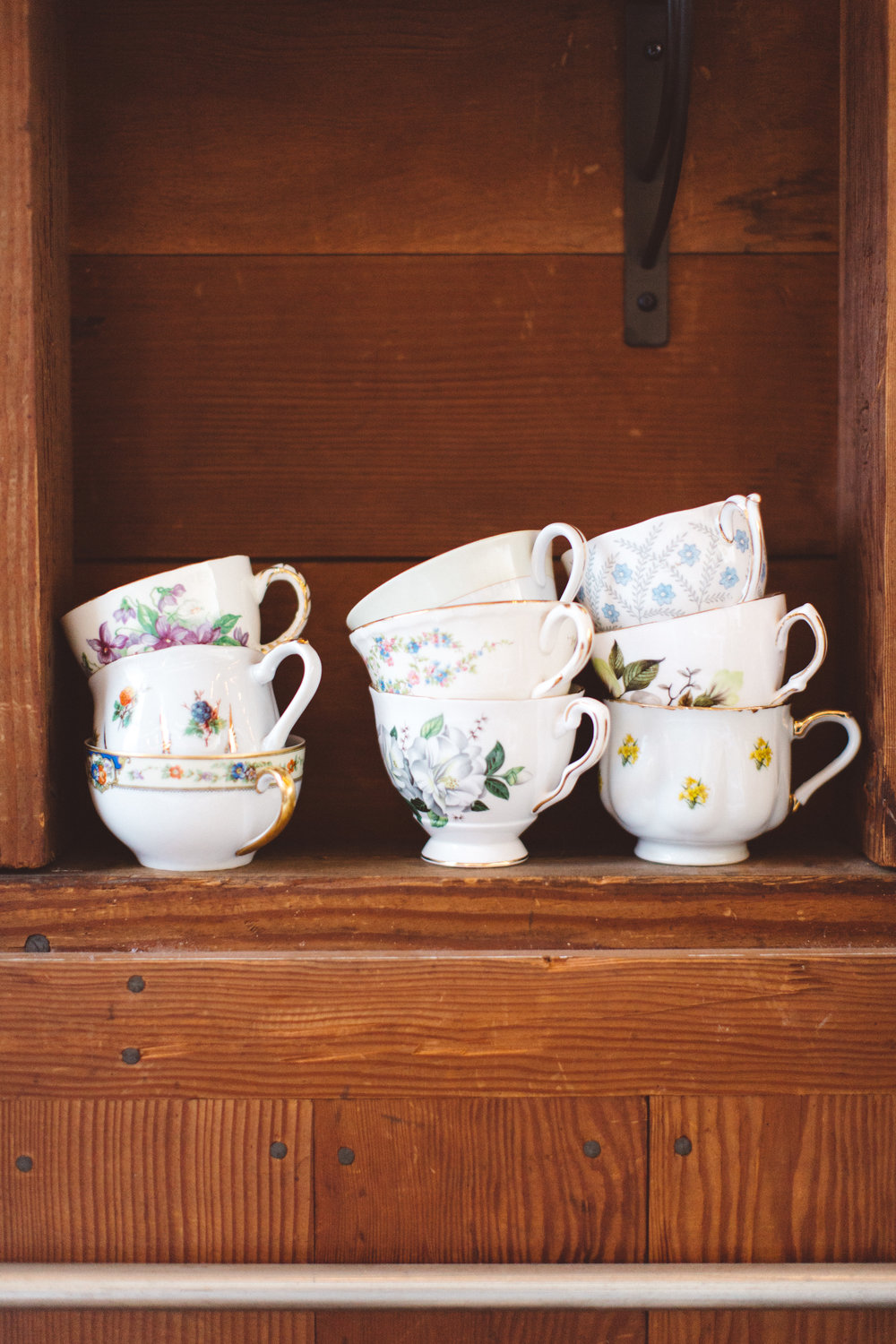 Pretty details like these teacups were everywhere.