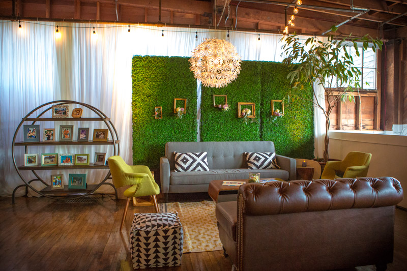 Classic Party Rentals created this mid century lounge set up.