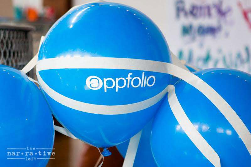 AppFolio even had their own personalized balloons!