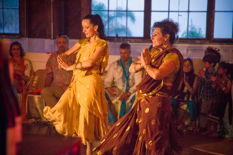 Traditional Sangeet dancing to celebrate Radhika and Glen's love!  Photo Credit: The Narrative Loft