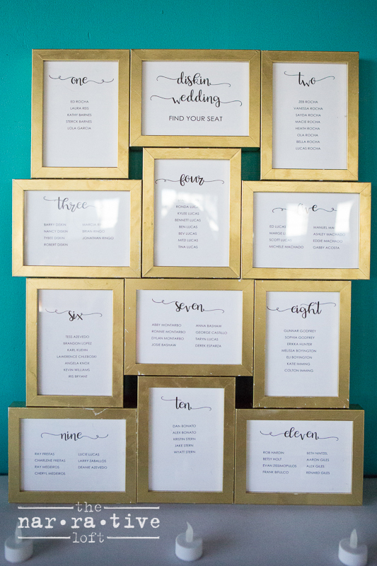 Sweet idea for table assignments!