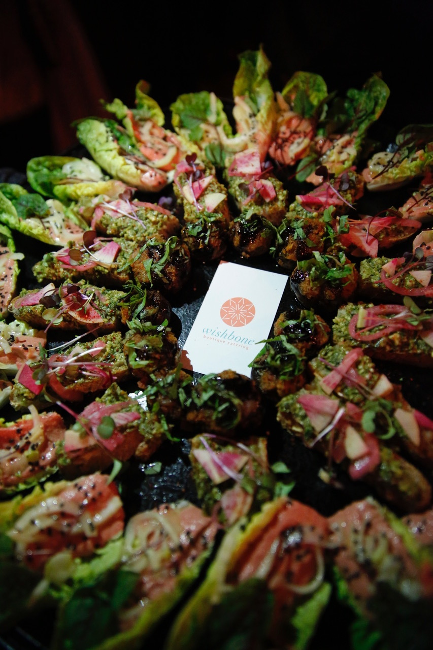 Always beautiful and delicious options from Wishbone Catering!  Photo Credit: Tai Kerbs