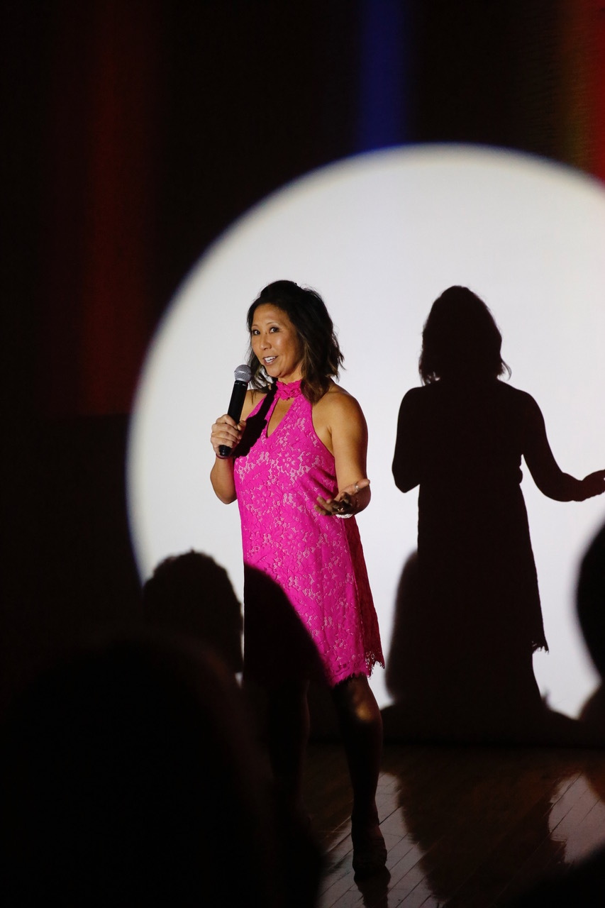 Our very own Michelle Lee kicking the night off!  Photo Credit: Tai Kerbs