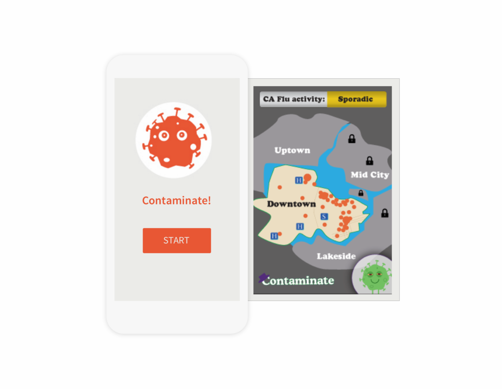 Healthcare Game Ideation—Contaminate, Mobile application.   Role: Ideation, UX/UI Design