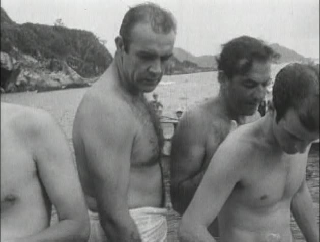 Connery going natural on the set of  You Only Live Twice