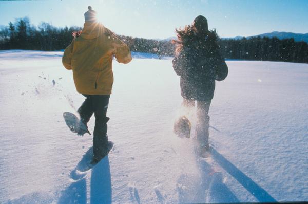 Stowe winter snowshoeing