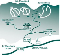 Stowe Motel map