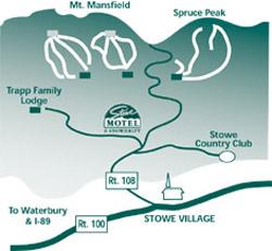 Stowe Motel map