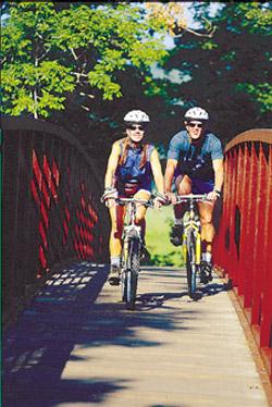 Stowe biking
