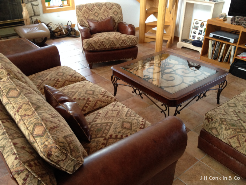 Southwestern Sofa and Chairs & Completed Furniture Upholstery Projects