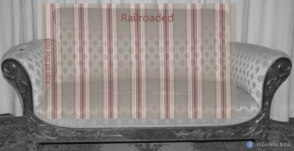 Railroaded fabric cover wide areas in a single piece.