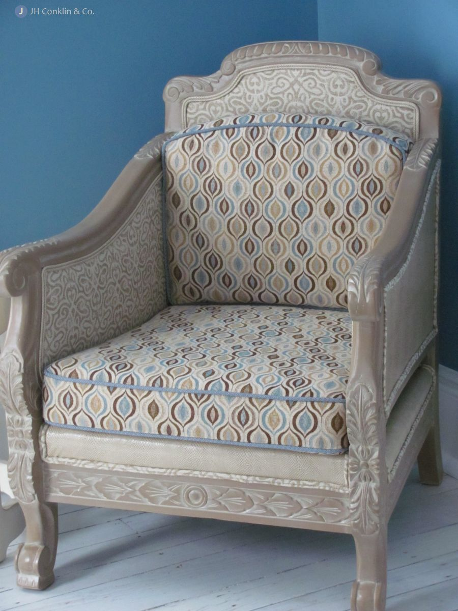 Restyled / re-tasked chair for a Delaware bedroom.